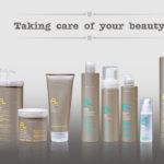 řada produktů péče o vlasy e-line